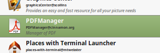 cinnamon pdfmanager applet