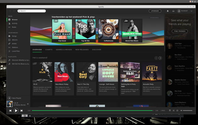 Spotify client voor Linux